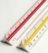 مسطرة عليها مقاييس مختلفةRotring Triangular Scale Rulers